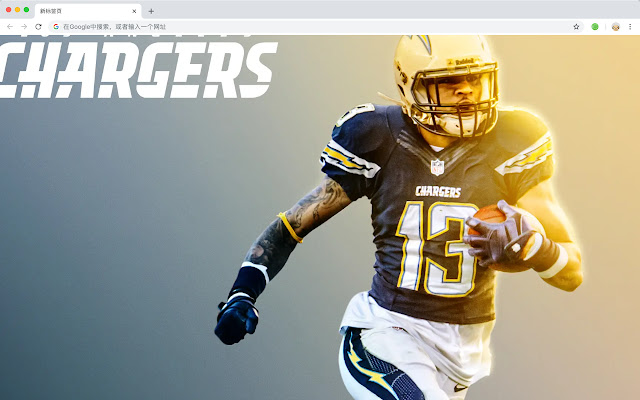 Los Angeles Chargers New Tab Theme HD