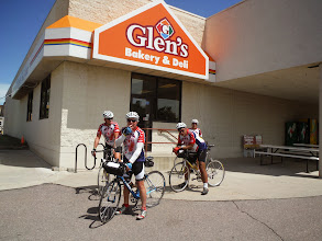 Photo: Gorden and Martha fick, set up lunch for us at Glen's Country Store where of group of veterans known as the Last Man club, meet almost daily for lunch.  Originally there where 24 men in the group. There are 9 remaining. The last man, gets the bottle of bourbon, in the center of the display. Meeting us for lunch were Warren, Bob, and Jake.  Glen's country store where the Last Man Club meets
