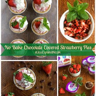 No Bake Chocolate Covered Strawberry Pie