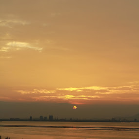 morning from penang by Zul Murky - City,  Street & Park  Vistas ( orange, penang, sunshine, landscape, malaysia. sunset )