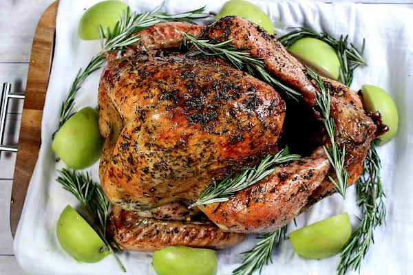 Mom's Thanksgiving Rosemary Roasted Turkey Recipe