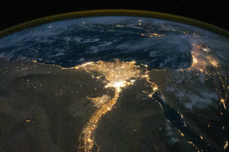 Photo: The Nile River at Night