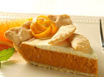 Pumpkin Pie With Sour Cream Topping Recipe