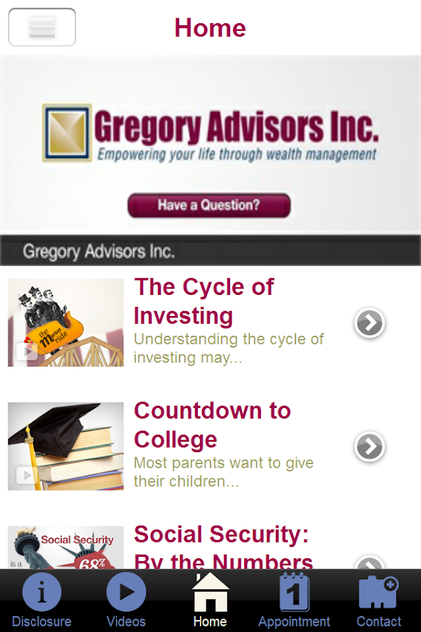 Gregory Advisors Inc- screenshot