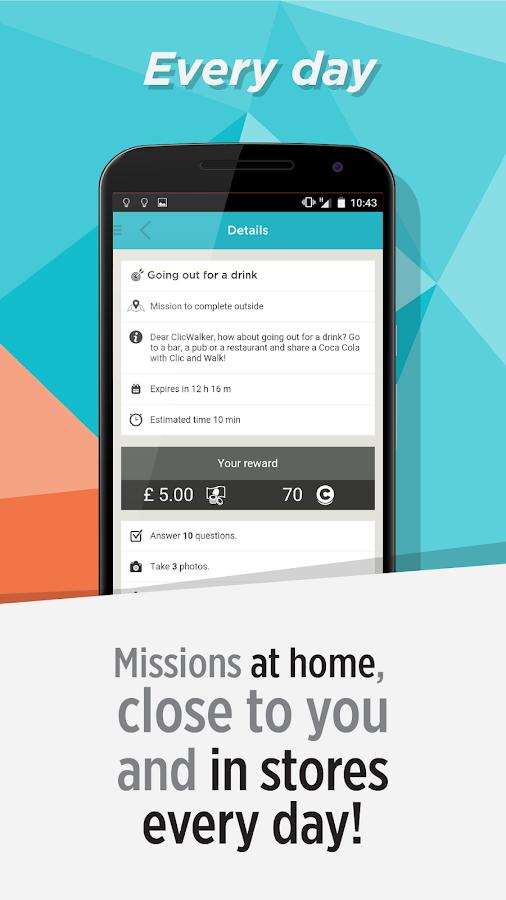 Clic and Walk - MAKE MONEY- screenshot