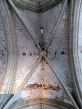 Photo: Remains of some previous ceiling decoration.