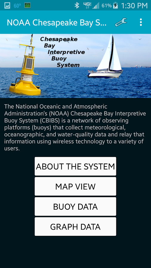 NOAA Smart Buoys- screenshot