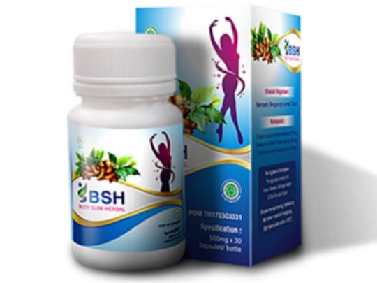 BSH BODY SLIM HERBAL ORIGINAL BPOM kapsul pelangsing membakar lemak tubuh melangsingkan mengecilkan perut paha lengan