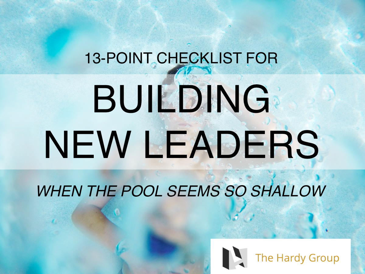 Checklist for building new leaders in church ministry