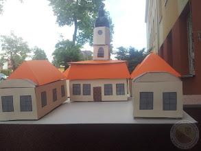 Photo: Konkursowa praca A. Lasoty 3c - miniatura Ratusza w Białymstoku