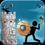 Vikings Stickman Axe Fighting Icon