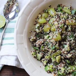 Green Quinoa Salad with Grapes, Cucumber and Avocado Recipe