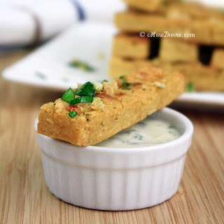 Chickpea Fries with Parsley Garlic Flakes