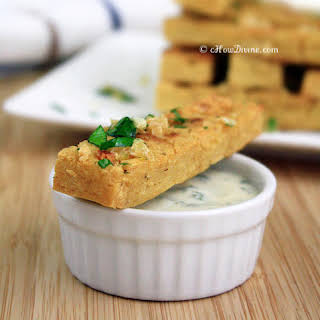 Chickpea Fries with Parsley Garlic Flakes.