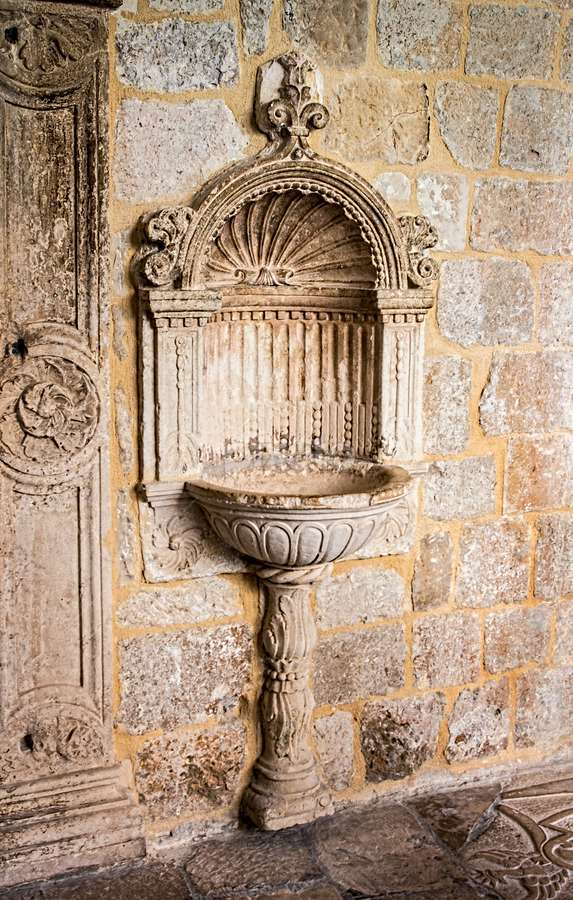 drinking fountain by Vibeke Friis - Artistic Objects Antiques ( dinking fountain, cloister, croatia,  )