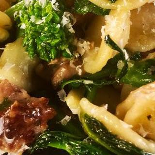Orecchiette with Pork Sausage and Broccoli Rabe.