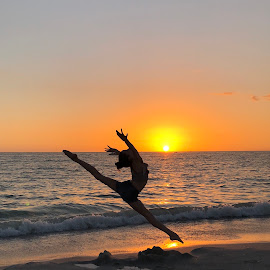 Sunset leap by Eva Rice - Sports & Fitness Other Sports