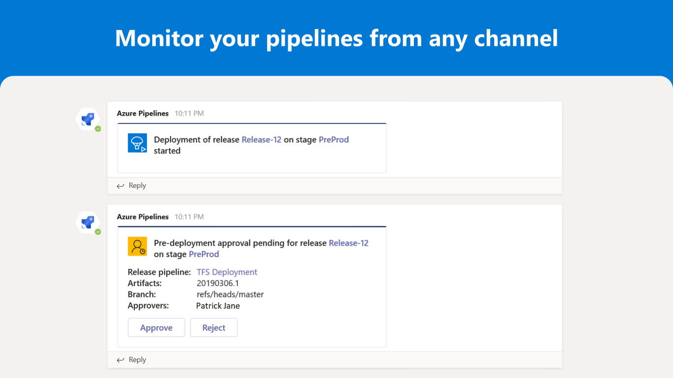 azure pipelines for microsoft teams