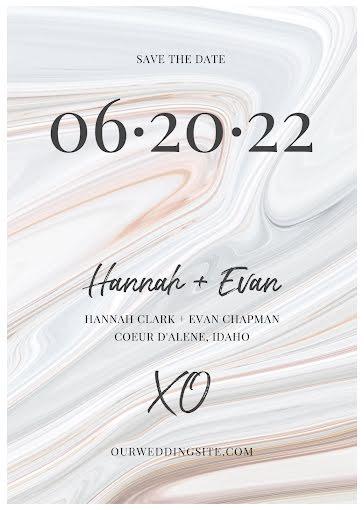 Hannah & Evan's Wedding - Wedding Invitation Template
