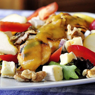 Honey Dijon Chicken Salad with Brie and Walnuts Recipe