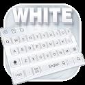 Pure white keyboard icon
