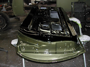 Photo: 69 roadrunner door gloss black and green