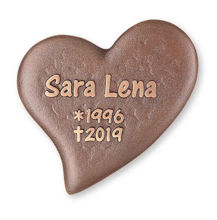 Gravskylt i brons - Hjärta