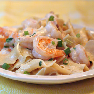 Creamy Shrimp and Pasta.