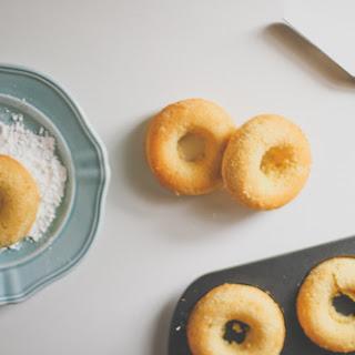 Eggnog Cake Doughnuts