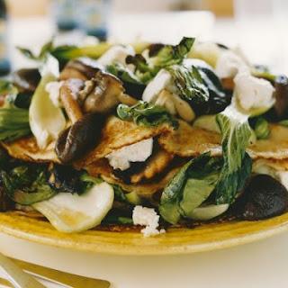 Savoury Soft Cheese and Mushroom Crepes.