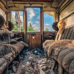 Train graveyard by Henk Smit - Transportation Trains