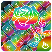 Colorful Rose Keyboard Theme