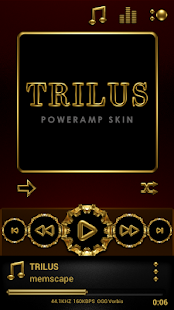 TRILUS Poweramp skin V2 Screenshot