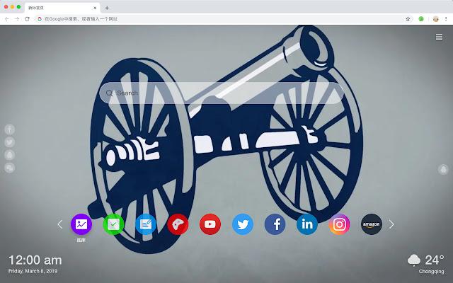 Columbus Blue Jackets HD Wallpaper New Tab