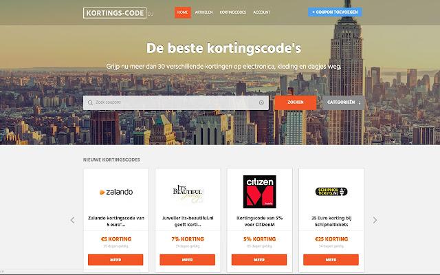Kortings-Code.EU Zoekhulp