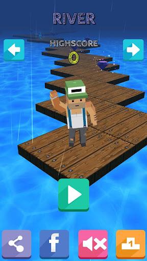 玩動作App 像素3D路 Pixel Road 3D免費 APP試玩