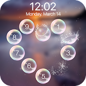 lock screen bubble heart