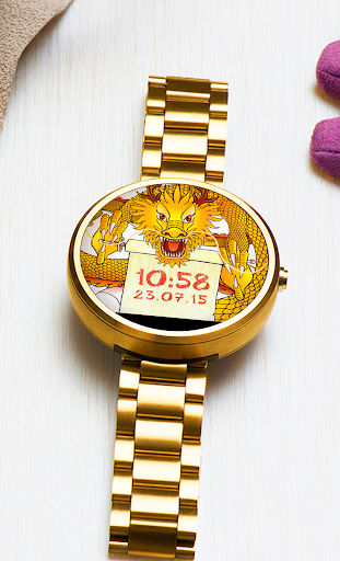 Watch Face Lucky Dragon 2in1