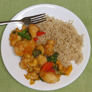 Honey Sriracha Cashew Chicken #TripleSBites