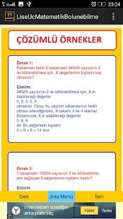 11. Sınıf Matematik Bölünebilme - náhled
