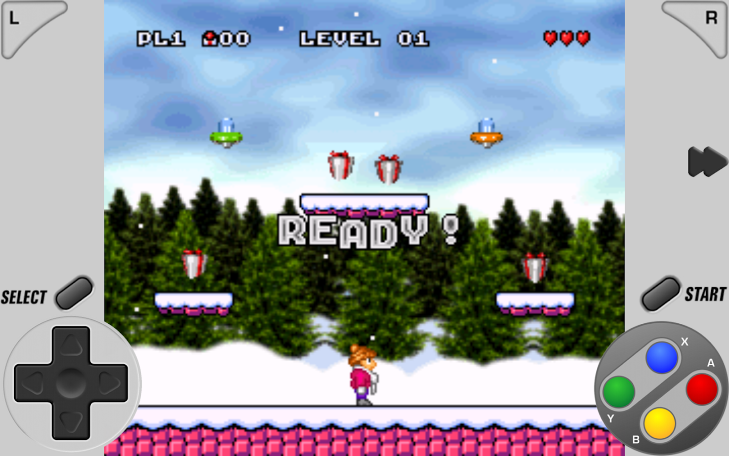 SuperRetro16 Lite (SNES): captura de tela