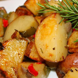 Roasted-Baked Garden Vegetables with Garlic and Rosemary