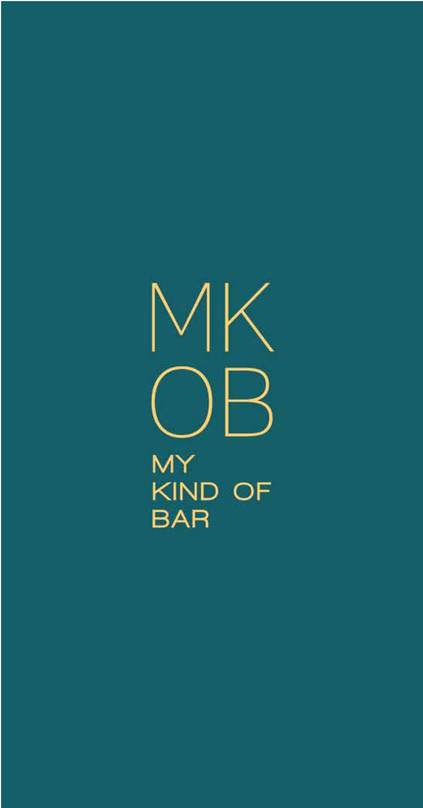 Mkob - My Kind Of Bar menu 1