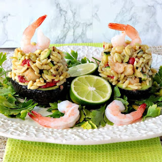 Orzo, Shrimp & Vegetable Salad Stuffed Avocados Recipe