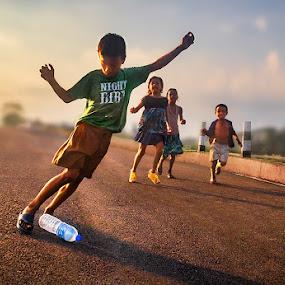 Football Fun by Subrata Kar - Babies & Children Children Candids ( colour, football, play, children, candid )