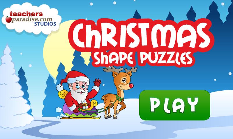 Скриншот Christmas Games Shape Puzzles