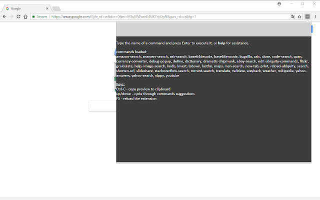 UbiChr - Ubiquity for Chrome