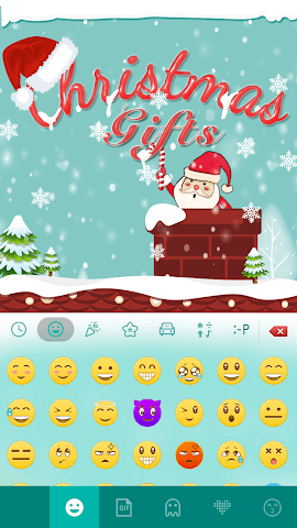 android Christmas Gifts Emoji Keyboard Screenshot 1