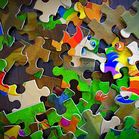 Puzzled by Lorna Littrell - Artistic Objects Toys ( puzzle, artistic abstracts, colors, toys, children, education,  )