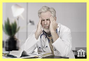 Upset Stressed Doctor